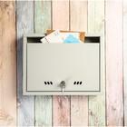 Ящик почтовый «Альянс-1», горизонтальный, с замком, серый