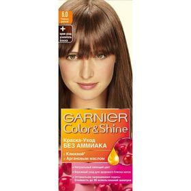 Краска для волос Garnier Color&Shine, без аммиака, тон 6.0, тёмно-русый