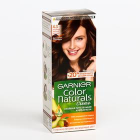 Краска для волос Garnier Color Naturals, тон 4,3, золотистый каштан