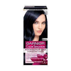 Краска для волос Garnier Color Sensation «Роскошный цвет», тон 4.10, ночной сапфир