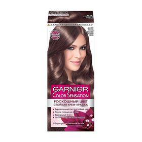 Краска для волос Garnier Color Sensation «Роскошный цвет», тон 6.12, сверкающий холодный мокко