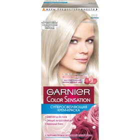 Краска для волос Garnier Color Sensation «Роскошный цвет», тон 910, пепельно-платиновый блонд