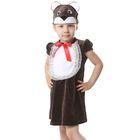 """Карнавальный костюм для девочки от 1,5-3-х лет """"Медвежонок"""", велюр, сарафан, шапка"""