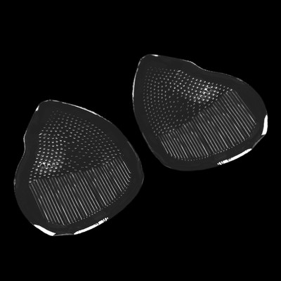 Полустельки для обуви, силиконовые, с протектором, пара, 8,5 х 6,3см