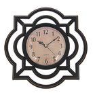 """Часы настенные круглые """"Серия Жанна. Графика"""", ретро циферблат, рама чёрная"""