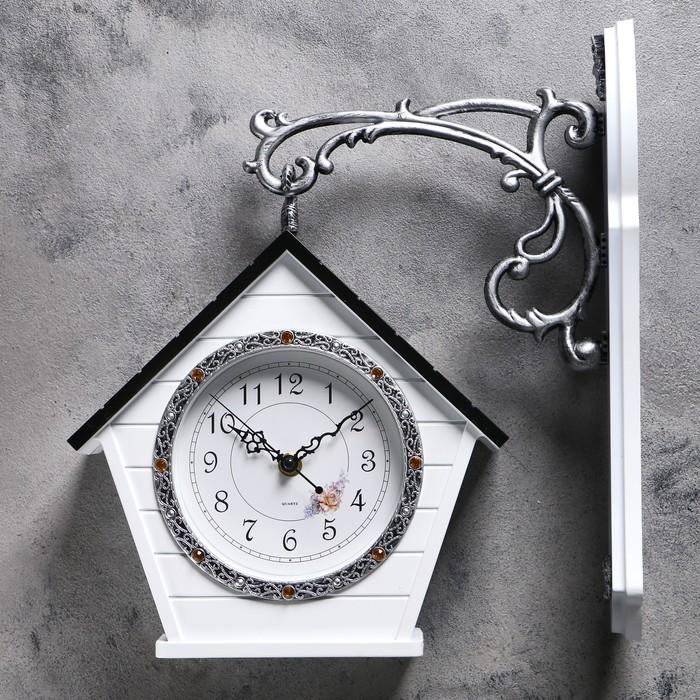 """Часы настенные двойные, серия: Садовые, """"Домик"""", 32х40 см - фото 797744405"""