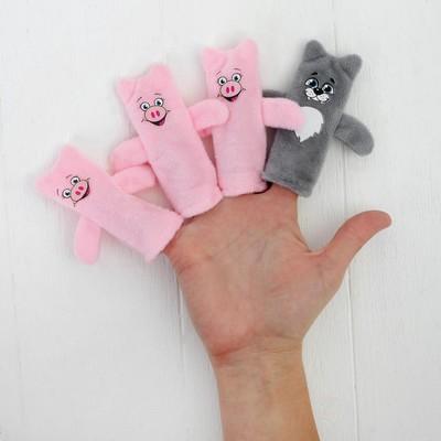 Кукольный театр «Три поросенка» набор 4 шт.