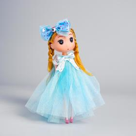 """Soft toy-keychain """"Fashionista"""" with a bow, MIX colors"""