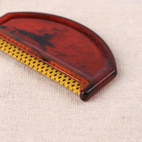 Щётка для удаления катышков, 7,5 × 4,5 × 0,5 см, цвет МИКС - фото 7300551