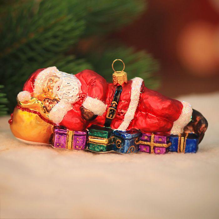 """Ёлочная игрушка """"Спящий Санта"""""""
