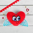 """Мягкий магнит """"На крыльях любви"""", сердечко с крылышками"""