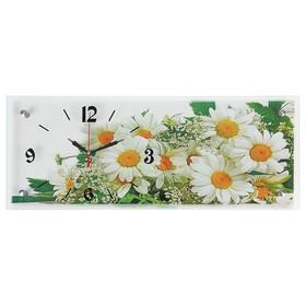 """Часы настенные, серия: Цветы, """"Ромашки"""", 20х50  см, микс"""