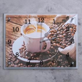 """Часы настенные, серия: Кухня, """"Чашка кофе"""", 30х40  см, микс"""