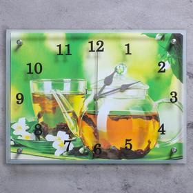 """Часы настенные, серия: Кухня, """"Чайничек чая"""", 30х40  см, микс"""