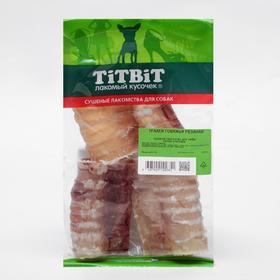 Лакомство TitBit для собак, трахея говяжья резаная, мягкая упаковка