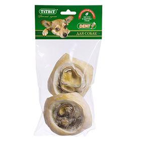 Лакомство TitBit для собак, ухо говяжье, внутреннее, мягкая упаковка