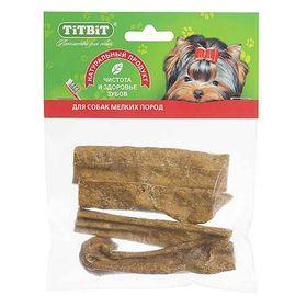 Лакомство TitBit для собак, вымя говяжье, мягкая упаковка, 45 г.