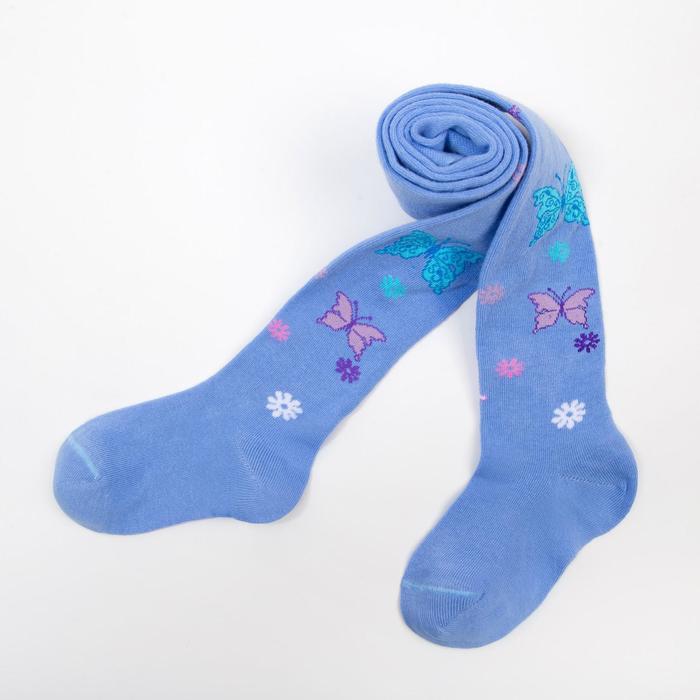 Колготки для девочки КДД1-2797, цвет голубой, рост 104-110 см - фото 76662107