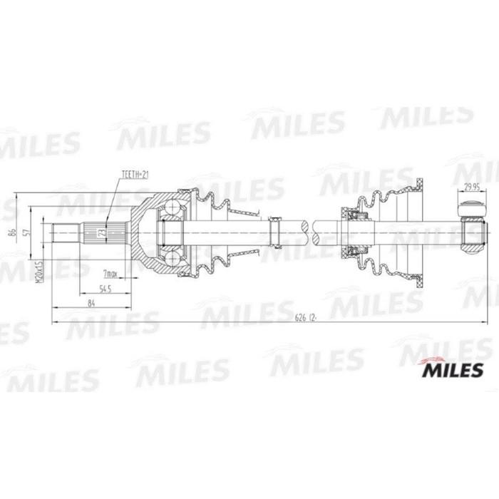 Привод колеса MILES GC01106