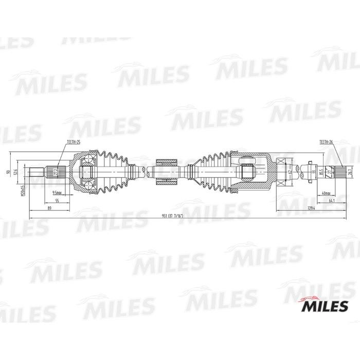 Привод колеса MILES GC02162