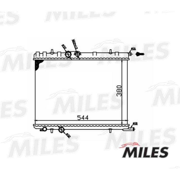 Радиатор охлаждения двигателя MILES ACRM010
