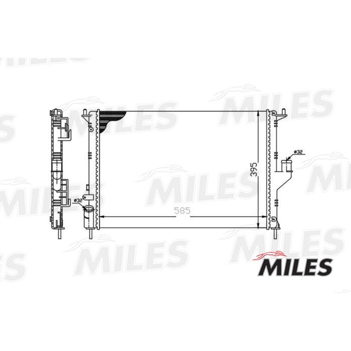 Радиатор охлаждения двигателя MILES ACRM003