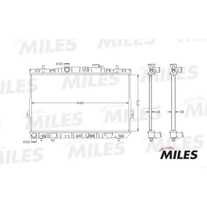 Радиатор охлаждения двигателя MILES ACRB024