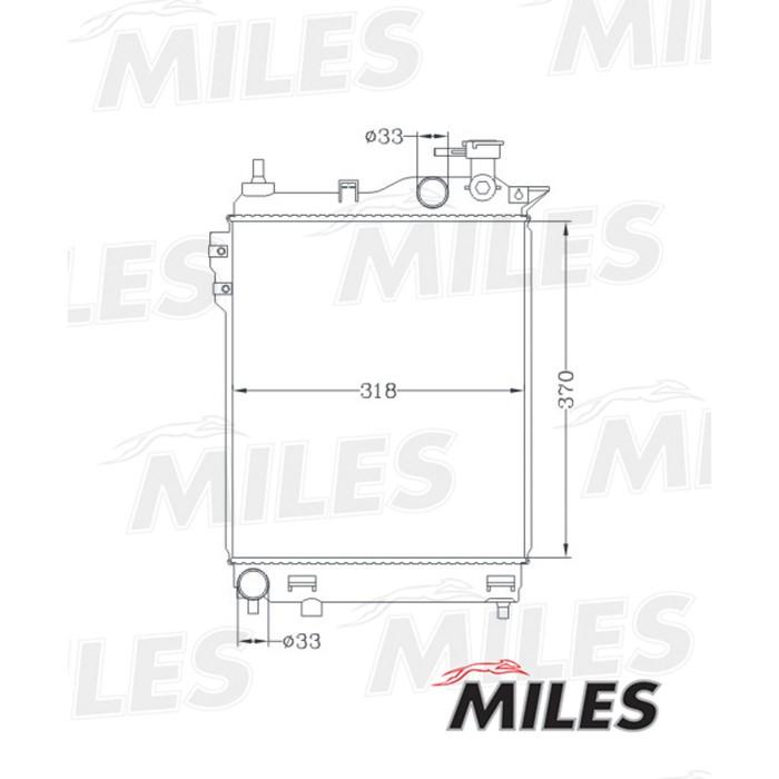 Радиатор охлаждения двигателя MILES ACRB025