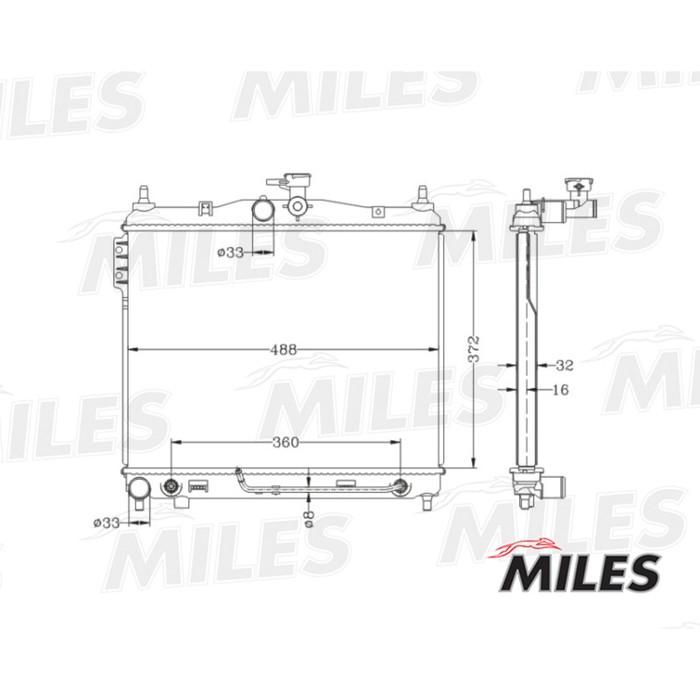 Радиатор охлаждения двигателя MILES ACRB050