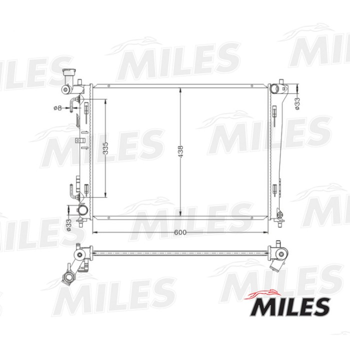 Радиатор охлаждения двигателя MILES ACRB046