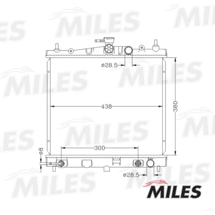 Радиатор охлаждения двигателя MILES ACRB064