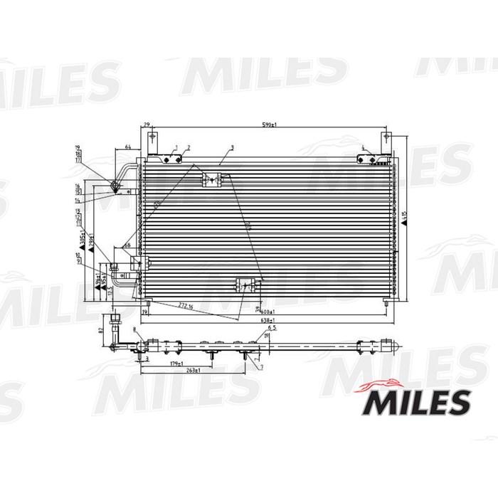Радиатор кондиционера MILES ACCB005