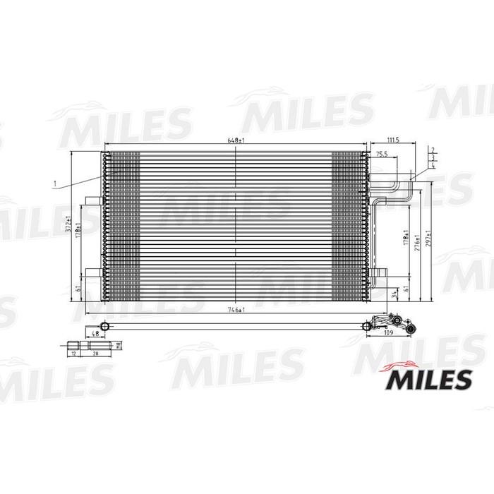Радиатор кондиционера MILES ACCB000
