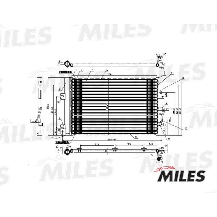 Радиатор кондиционера MILES ACCB008