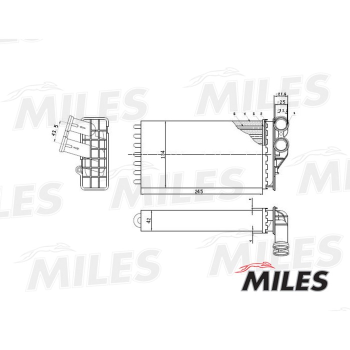 Радиатор отопителя MILES ACHM010