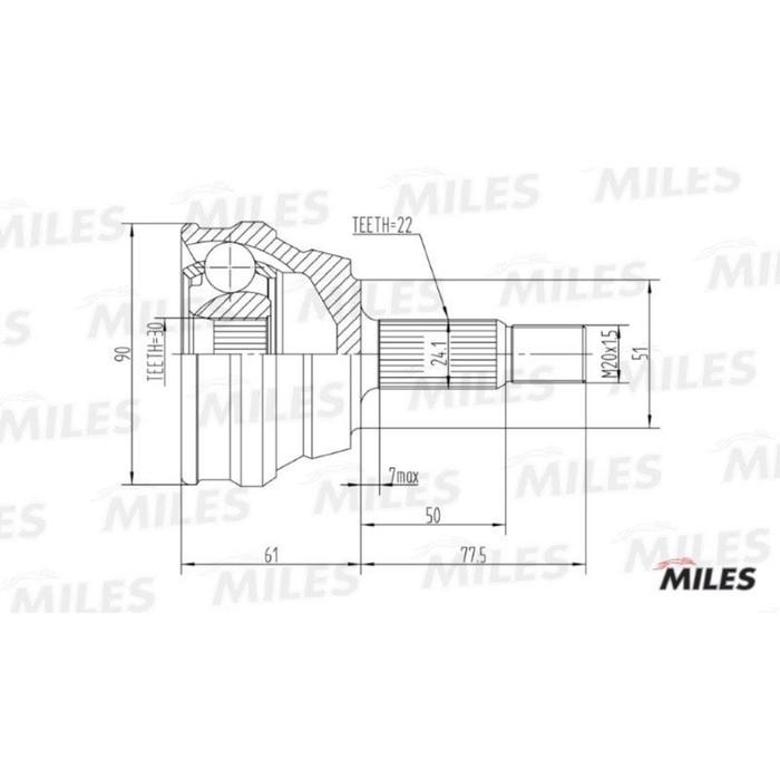 Шрус наружный MILES GA20013