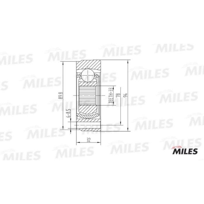 Шрус внутренний MILES GA10006