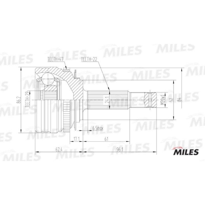 Шрус наружный MILES GA20050