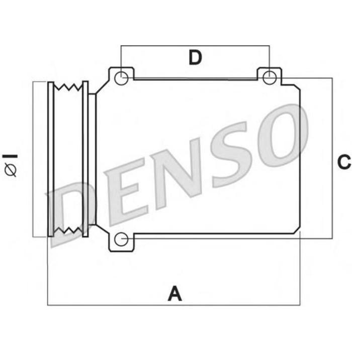 Компрессор кондиционера Denso DCP21014