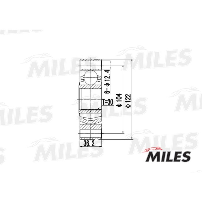 Шрус внутренний MILES GA10018