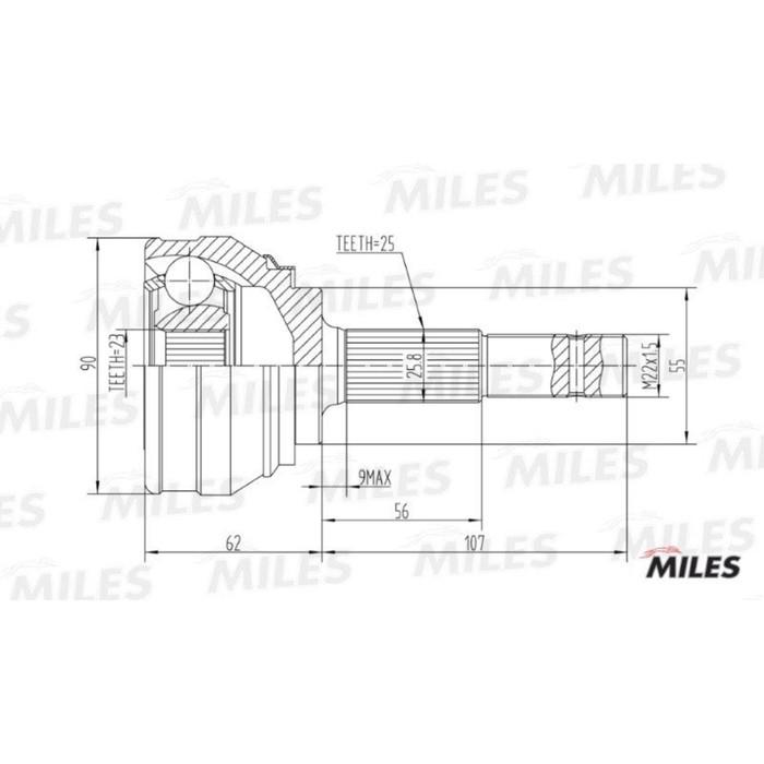 Шрус наружный MILES GA20334