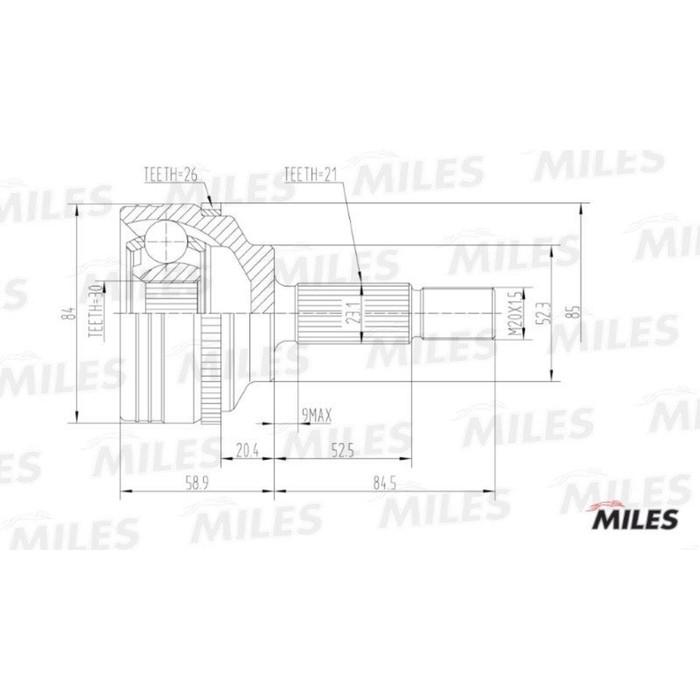 Шрус наружный MILES GA20387