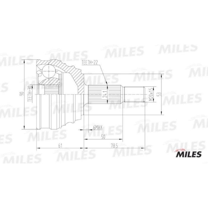 Шрус наружный MILES GA20517