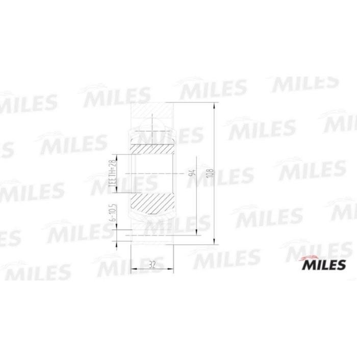 Шрус внутренний MILES GA10036