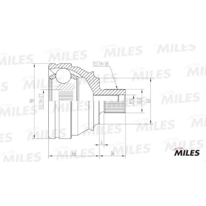 Шрус наружный MILES GA20528