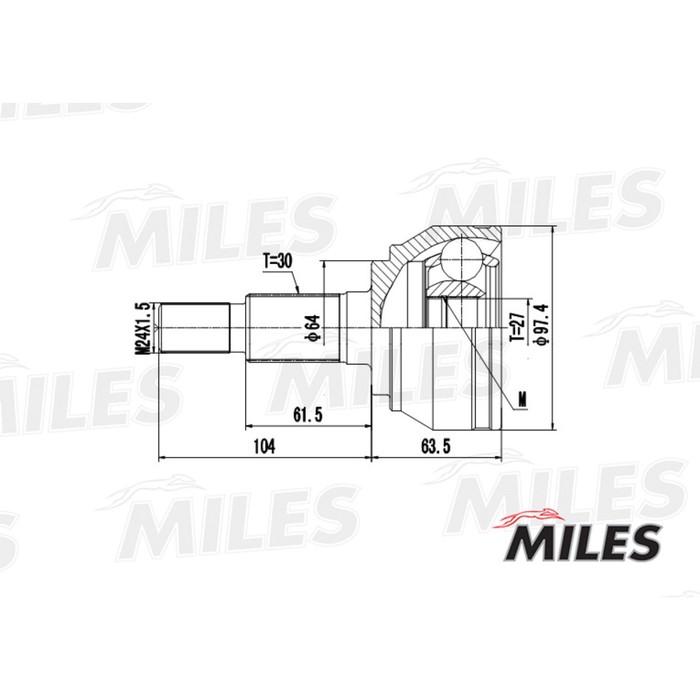 Шрус наружный MILES GA20532