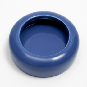 Ceramic bowl for rodents is small, 20 ml, blue