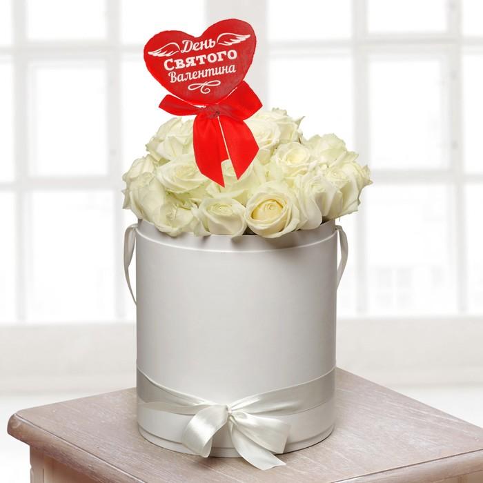 Мягкая игрушка на палочке «День Святого Валентина», сердце