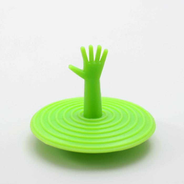 Пробка для ванны d=6,5 см, силикон, цвет МИКС