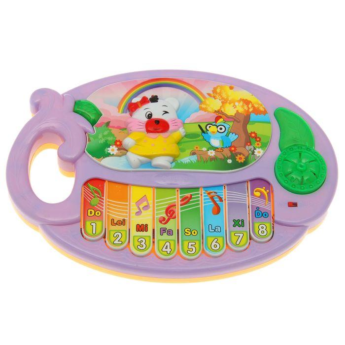 Музыкальная игрушка-пианино «Медведица-путешественница», звуковые эффекты, МИКС